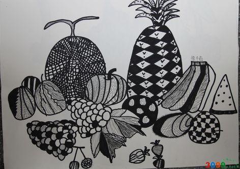 儿童绘画启蒙班作品 水果